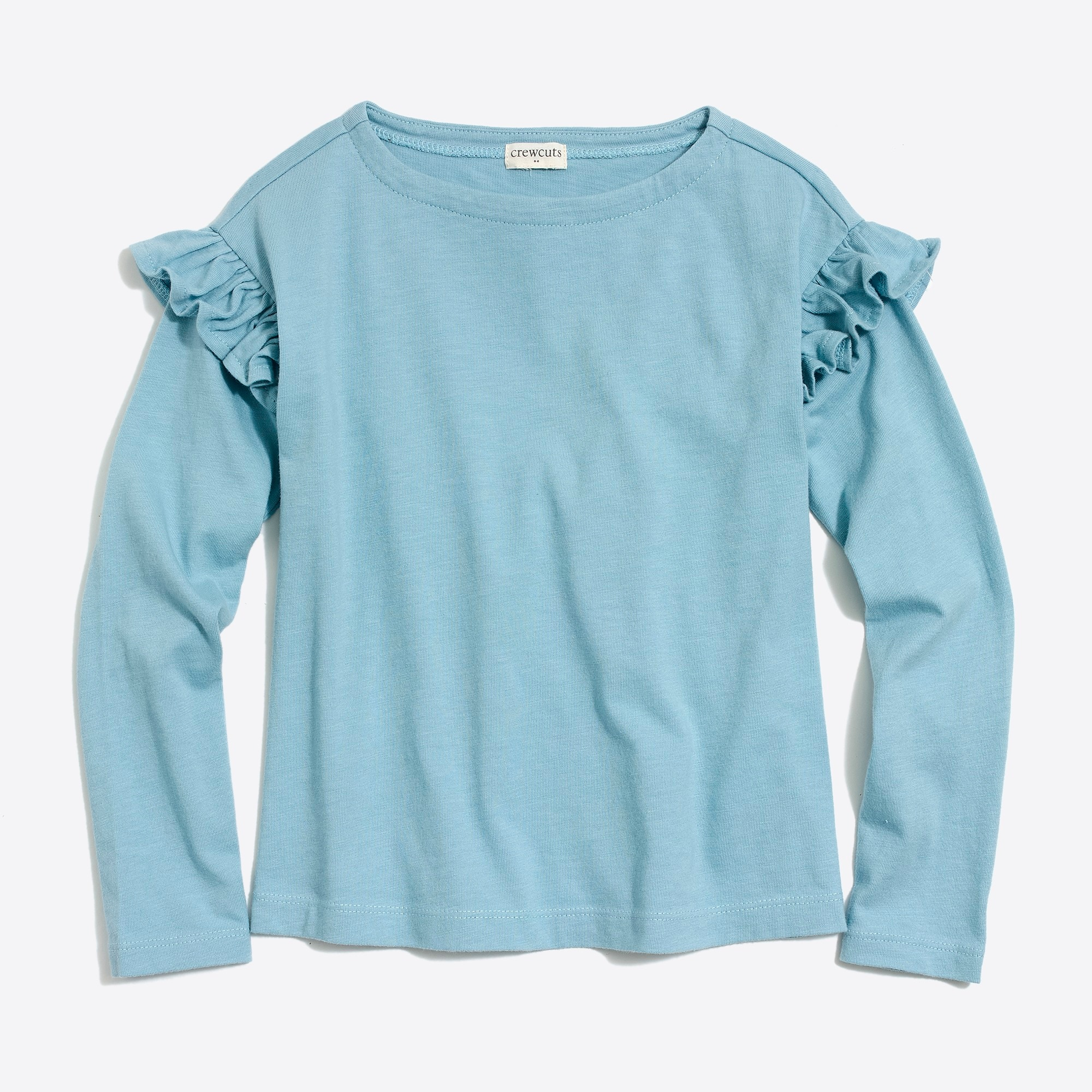 Girls' long-sleeve ruffle top
