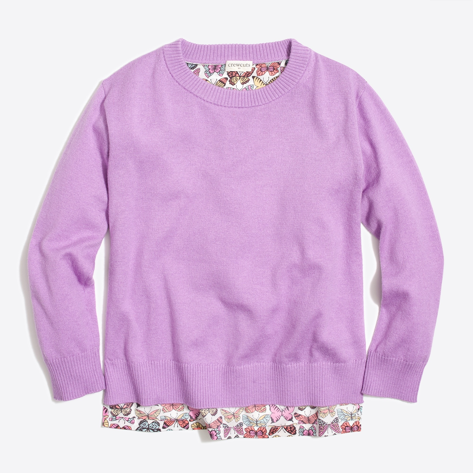 factory girls Girls' butterfly-back popover sweater