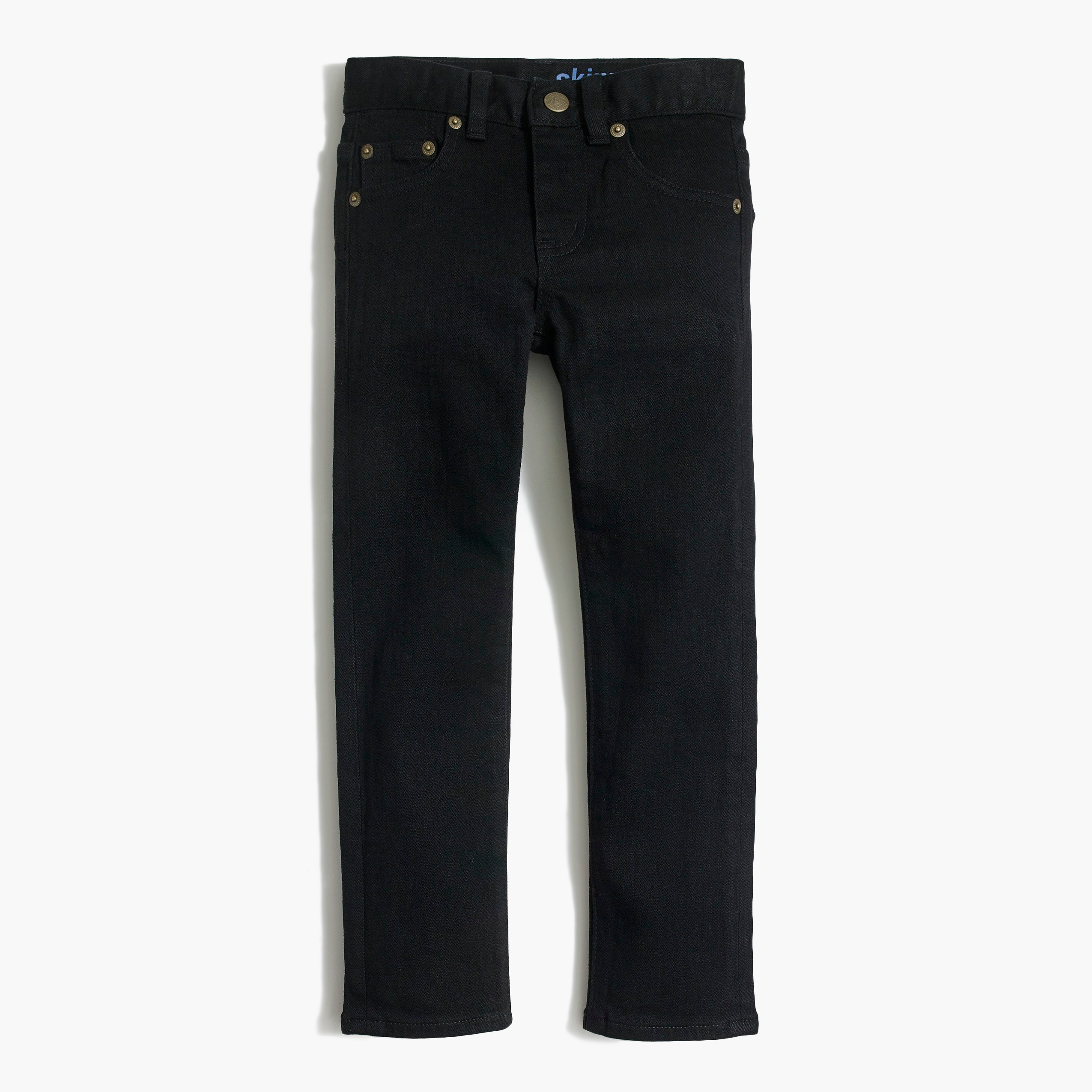 Boys' slim-fit black flex denim