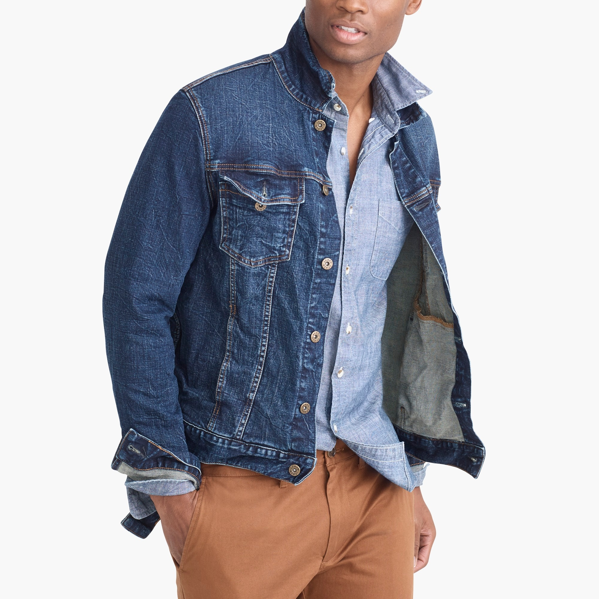 factory mens Flex denim jacket