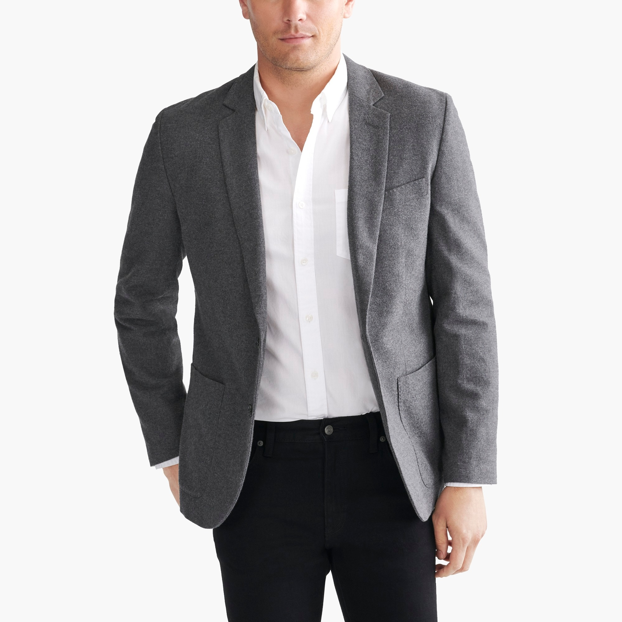 factory mens Thompson blazer in brushed cotton