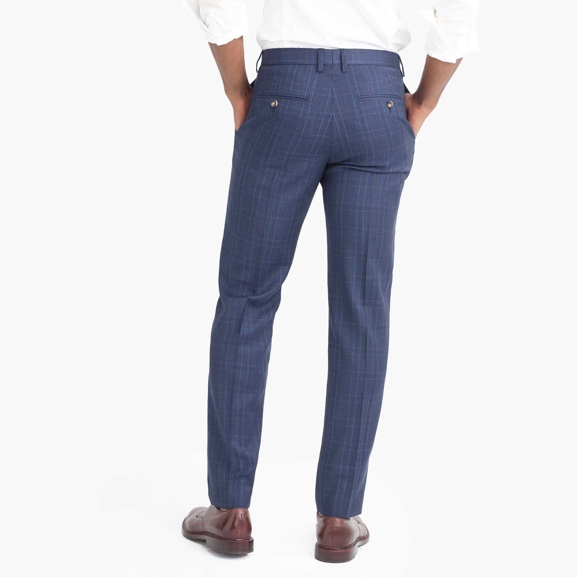 Image 3 for Slim-fit Thompson suit pant in glen plaid worsted wool