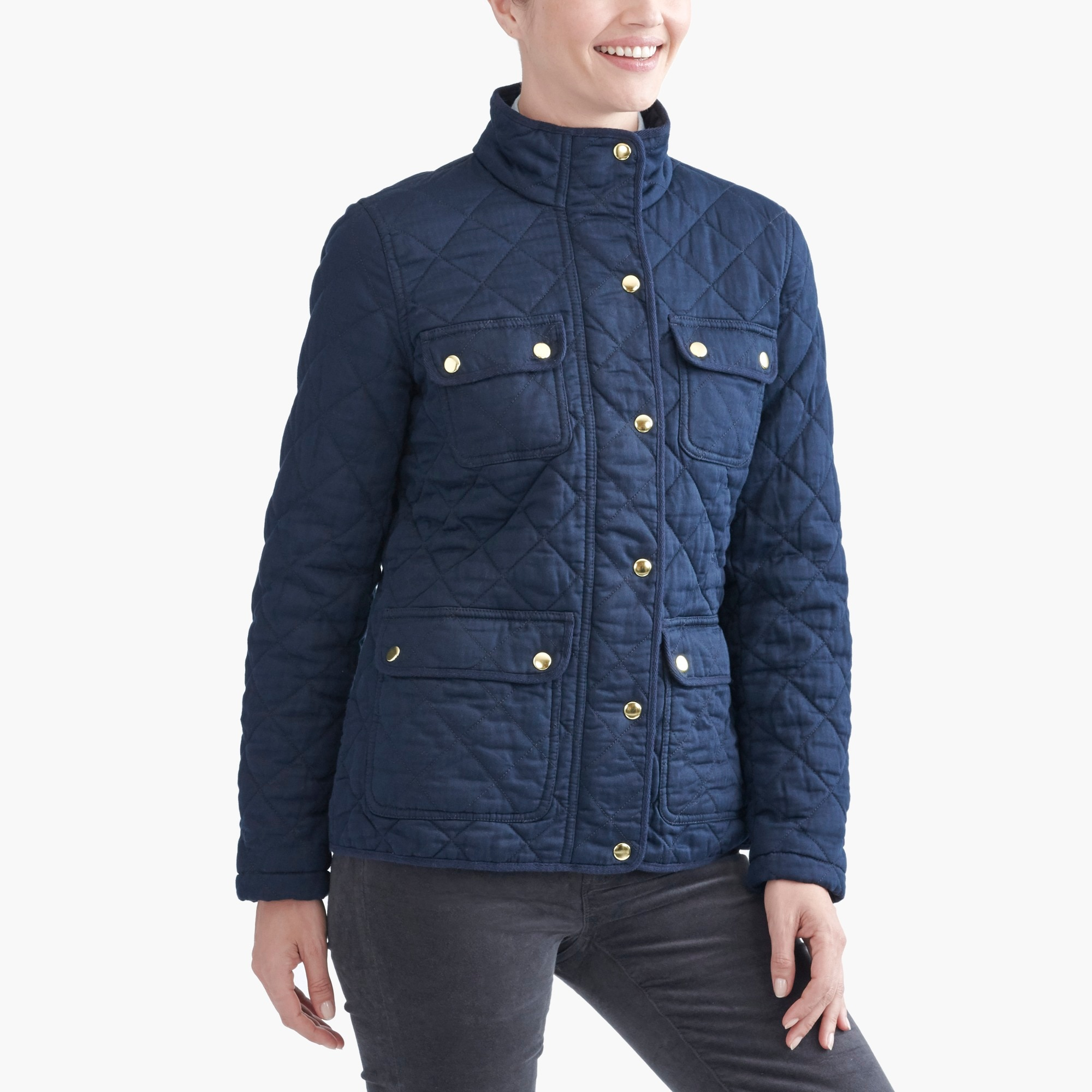 quilted field jacket : factorywomen utility jackets