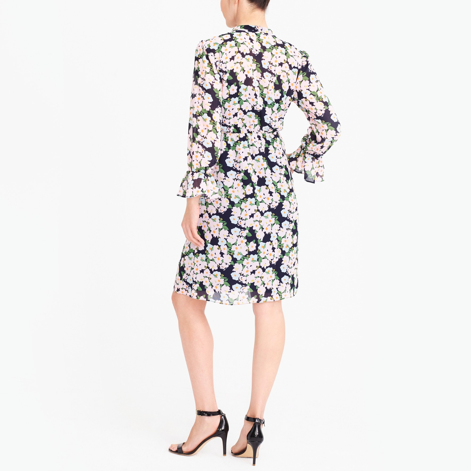 Image 2 for J.Crew Mercantile drapey tie-front dress