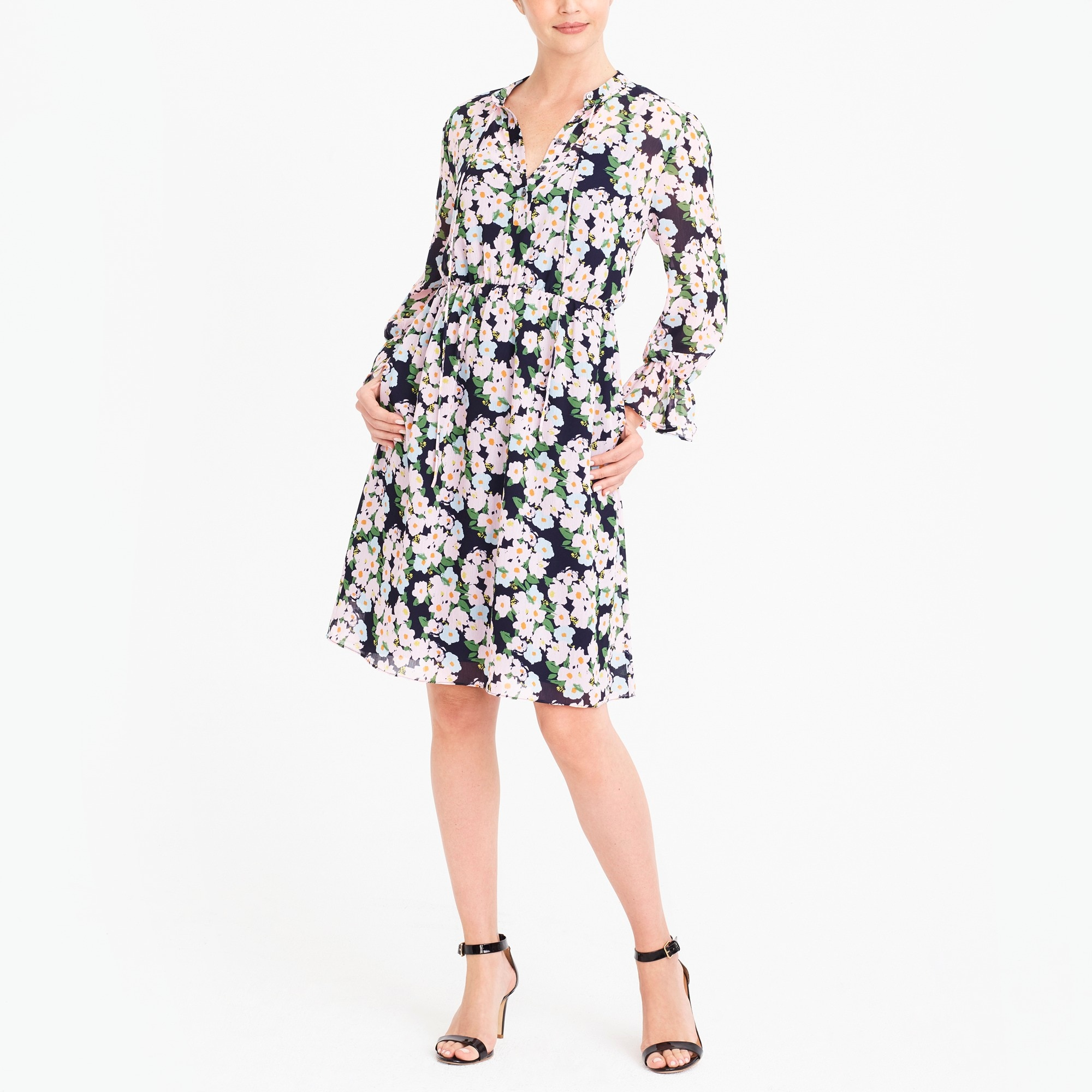 j.crew mercantile drapey tie-front dress : factorywomen casual dresses