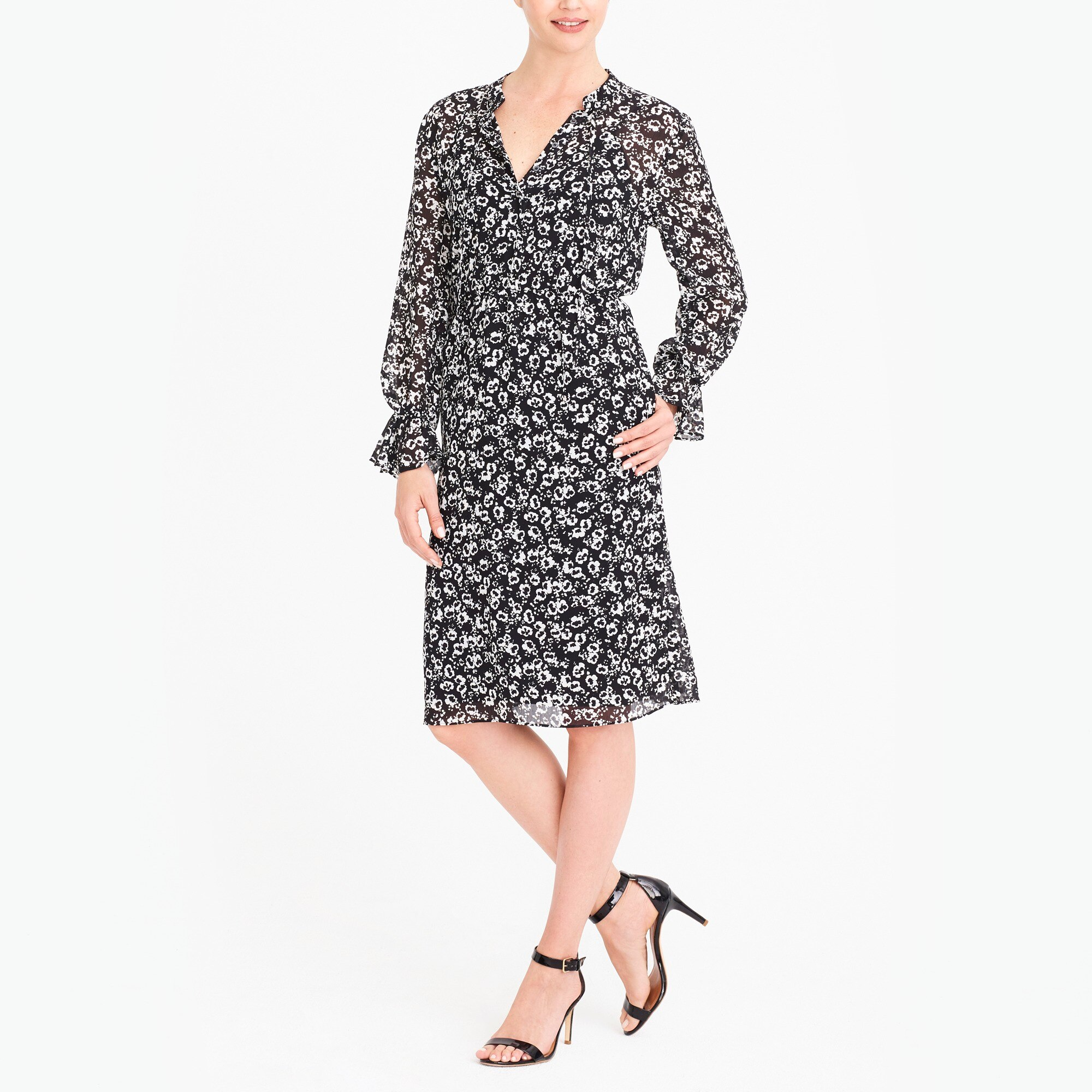 J.Crew Mercantile drapey tie-front dress