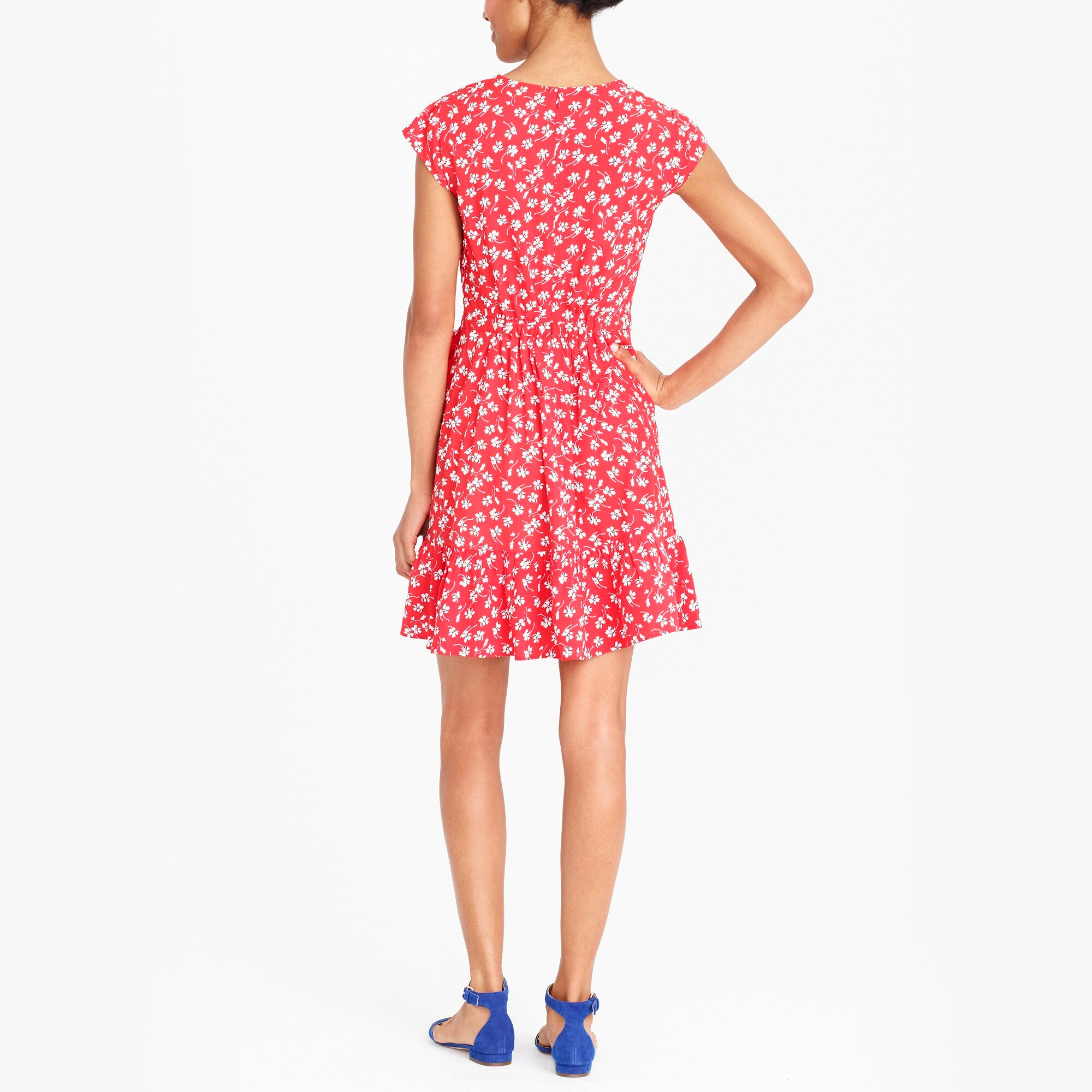 Image 3 for J.Crew Mercantile faux-wrap mini dress