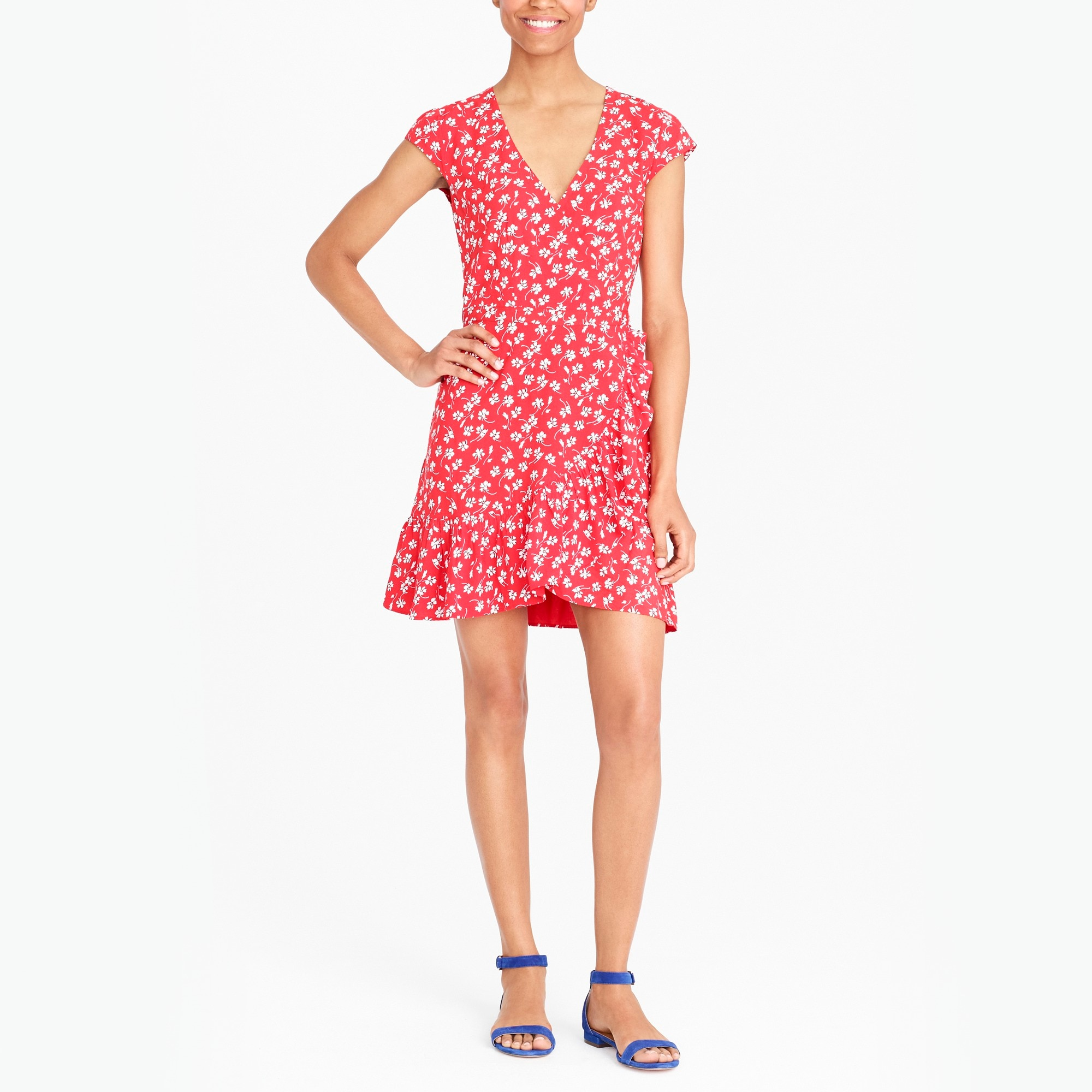 Image 1 for J.Crew Mercantile faux-wrap mini dress