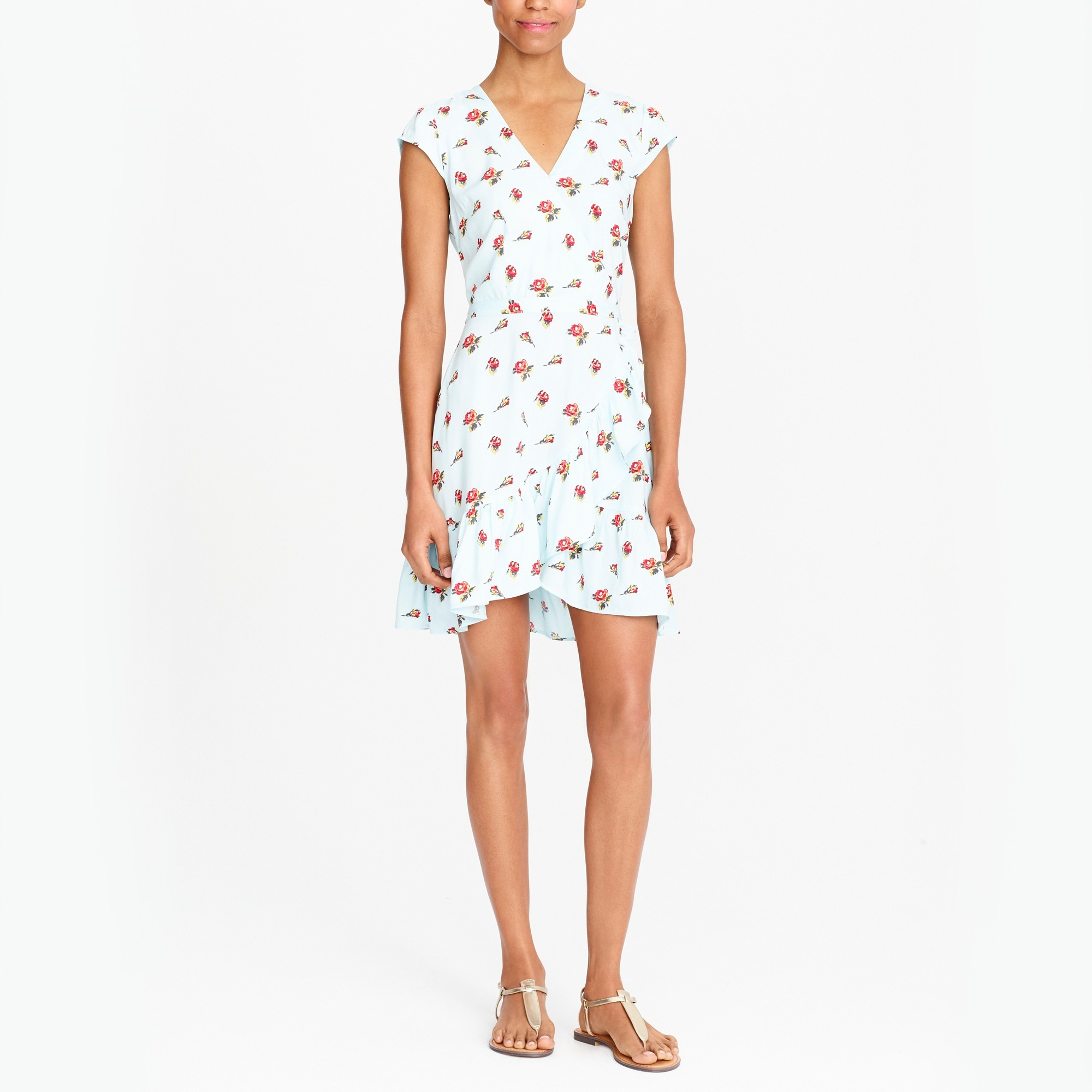 j.crew mercantile faux-wrap mini dress : factorywomen casual dresses