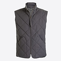 Waxed quilted Walker vest