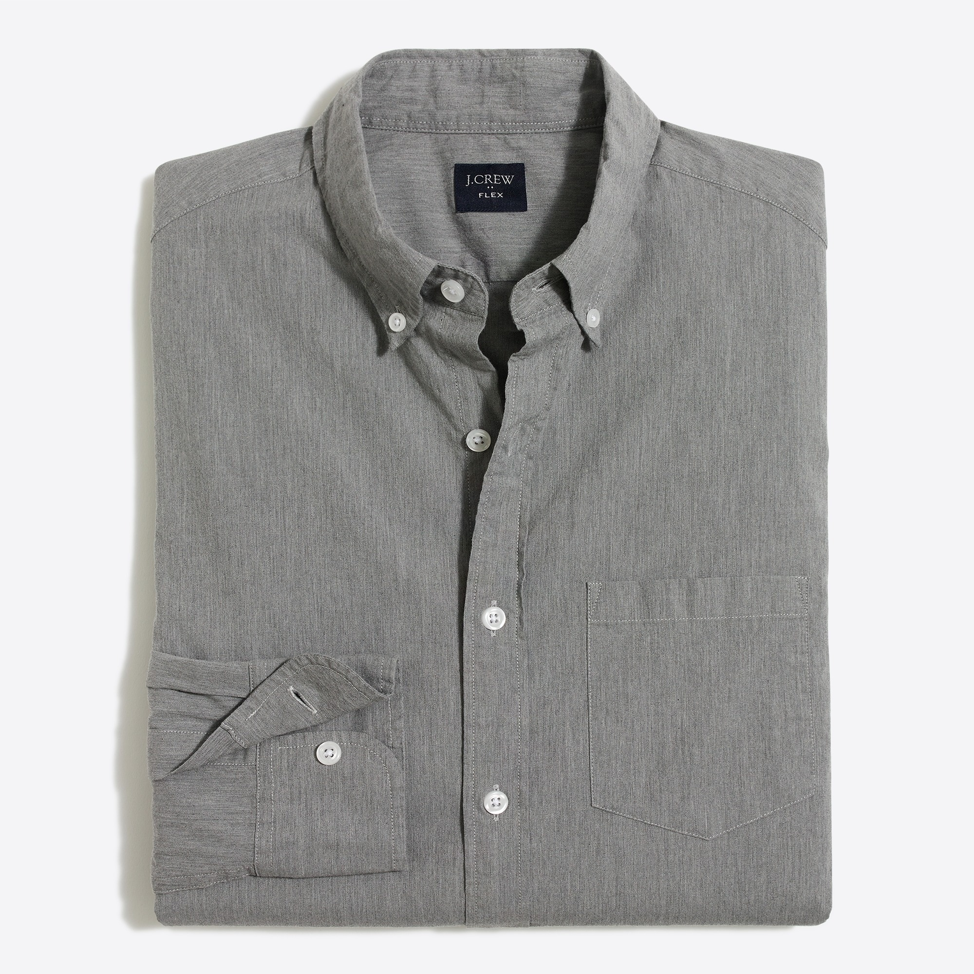 factory mens Tall slim-fit flex heather washed shirt