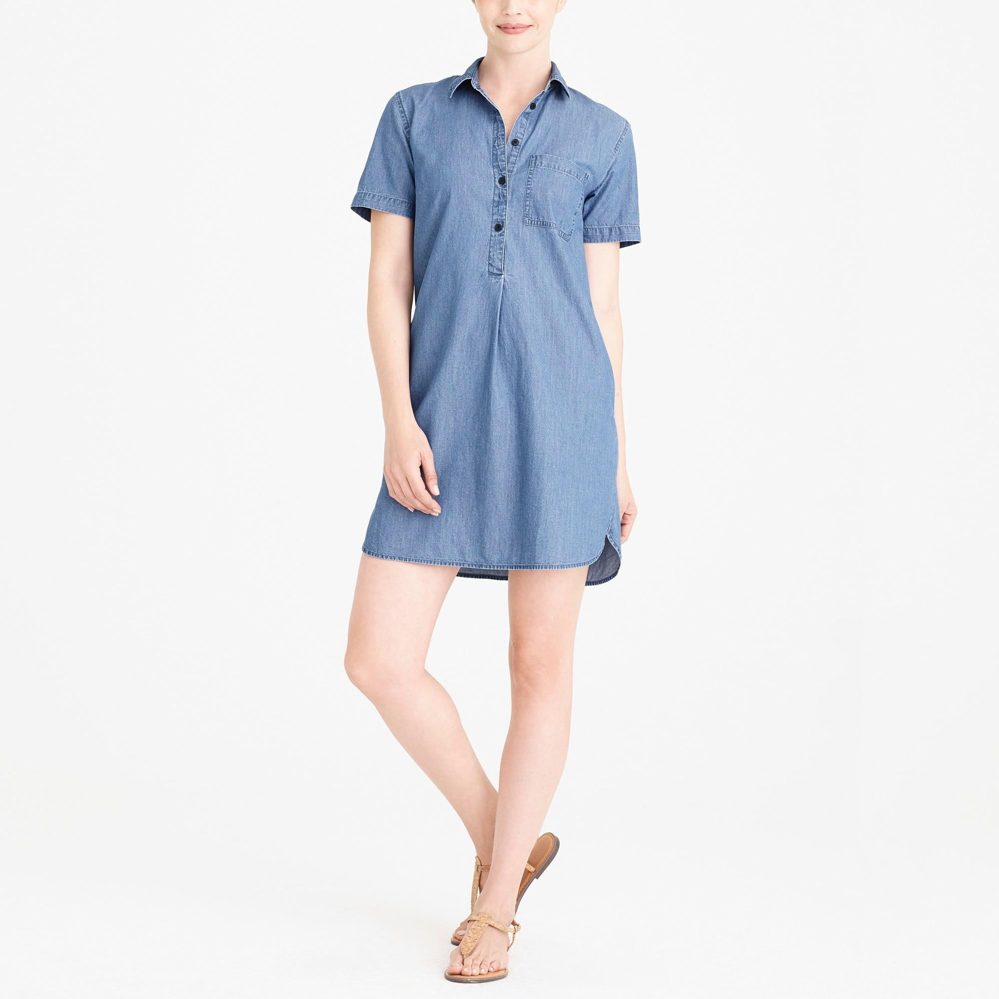Image 1 for Chambray shirtdress