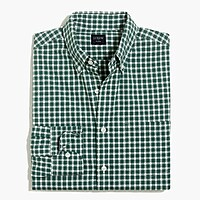 Image 2 for Tall slim-fit flex heather washed shirt in check