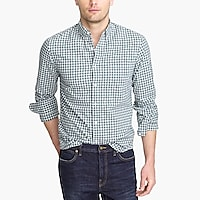 Image 1 for Tall slim-fit flex heather washed shirt in check