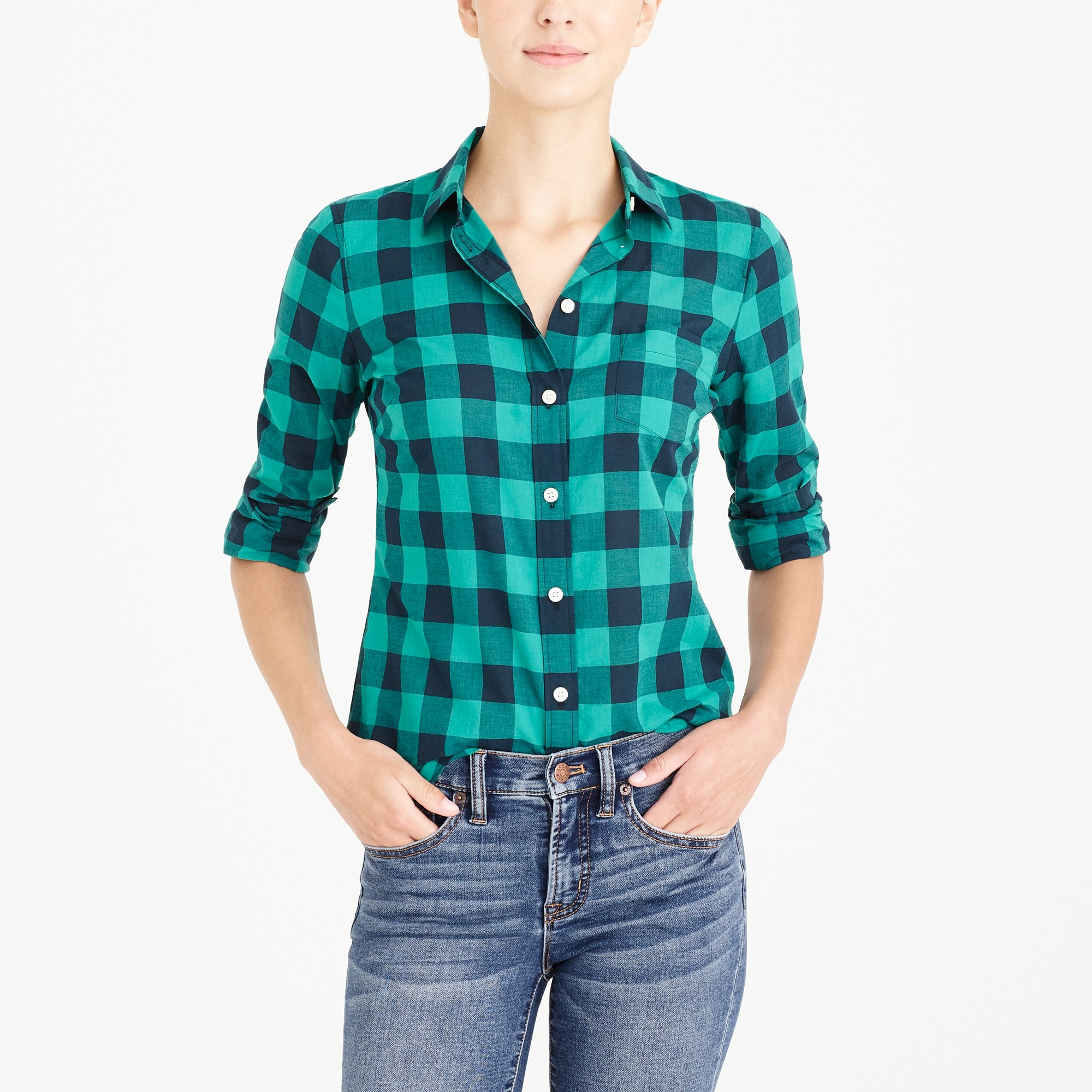 factory womens Plaid shirt