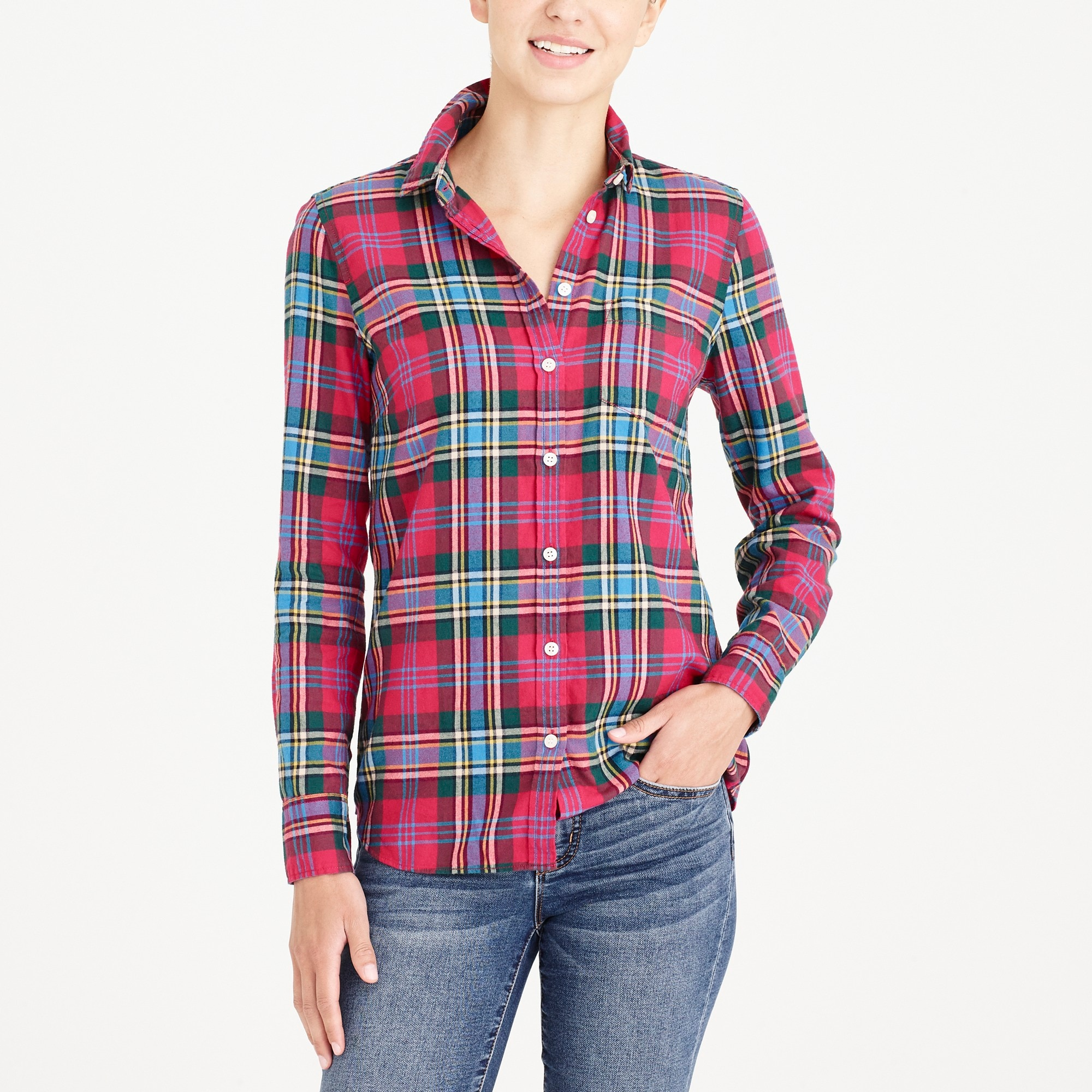 petite flannel shirt : factorywomen button up shirts