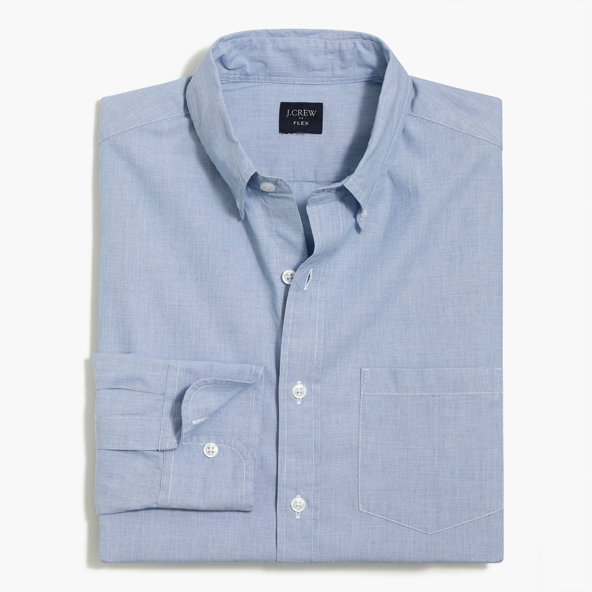 factory mens Tall flex washed shirt