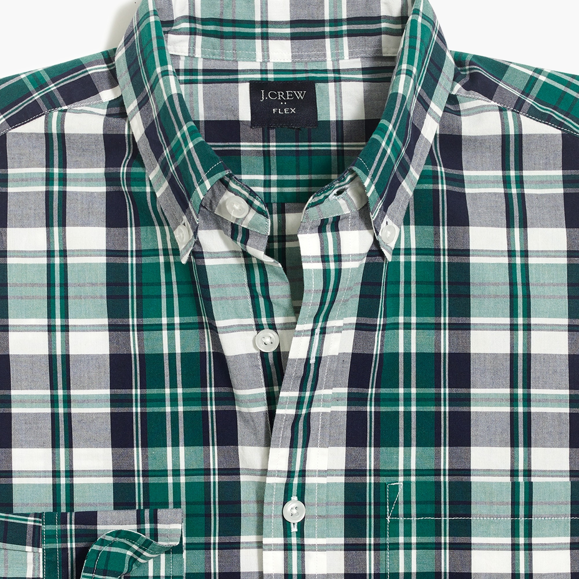 Flex washed shirt in plaid