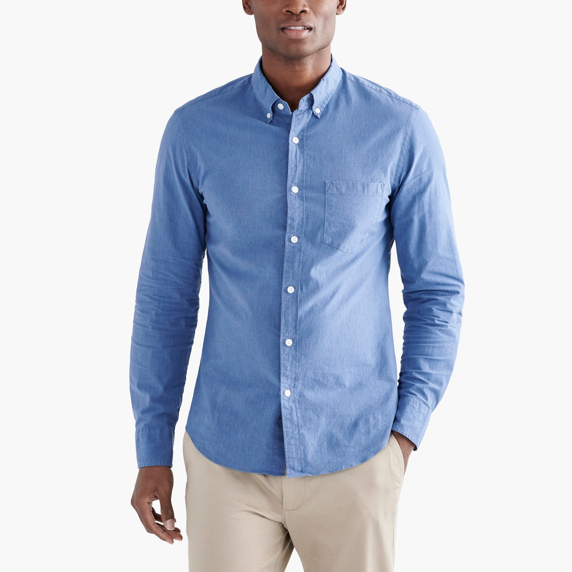 factory mens Tall flex heather washed shirt