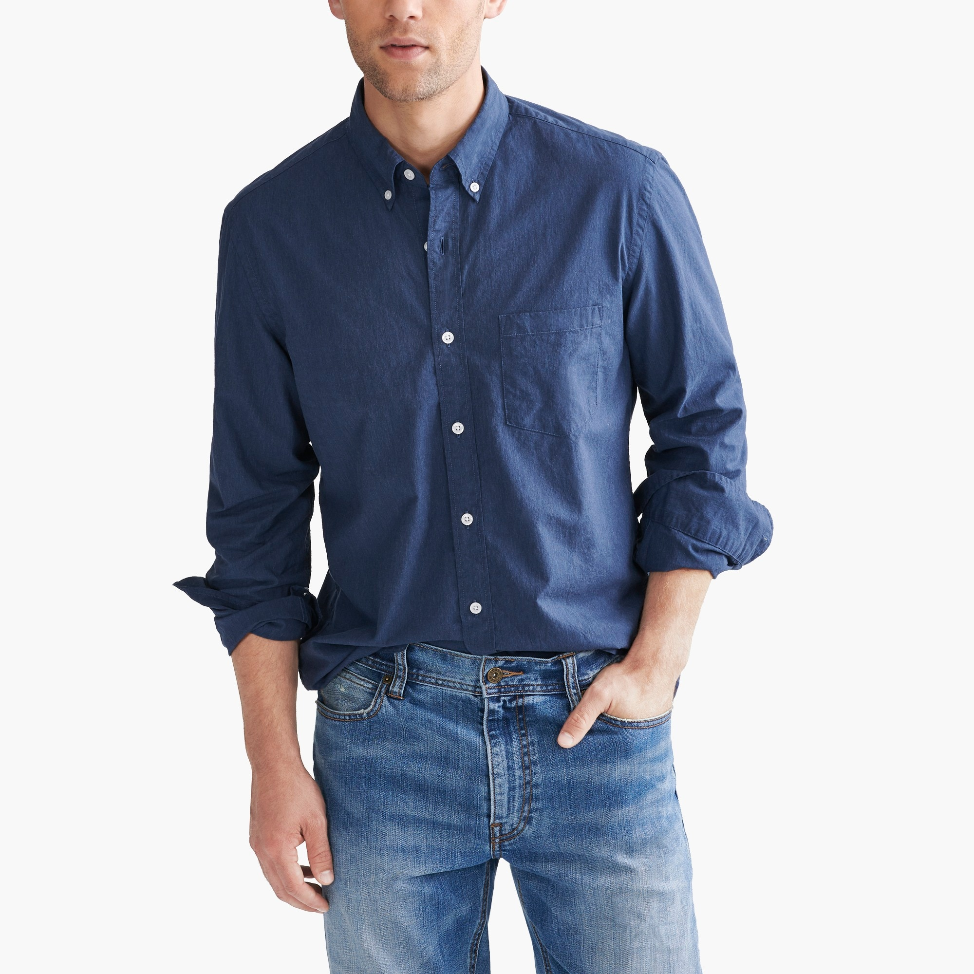 Classic flex heather washed shirt