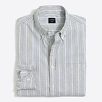 Image 2 for Tall slim-fit flex washed shirt in mini tattersall