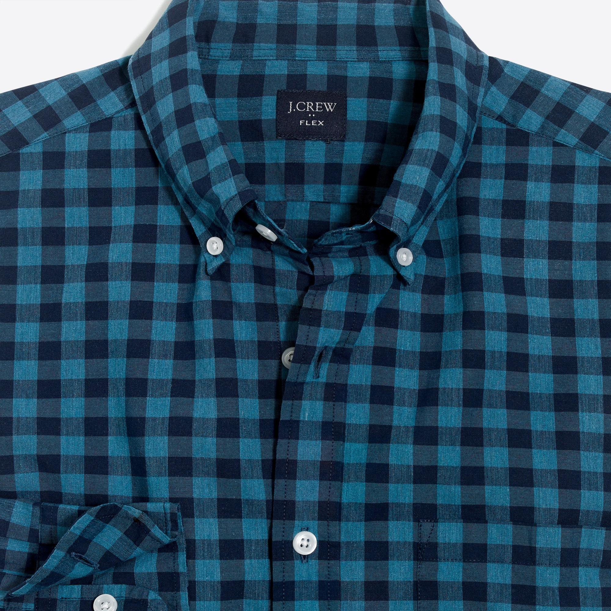 Image 2 for Slim-fit flex heather washed shirt in gingham