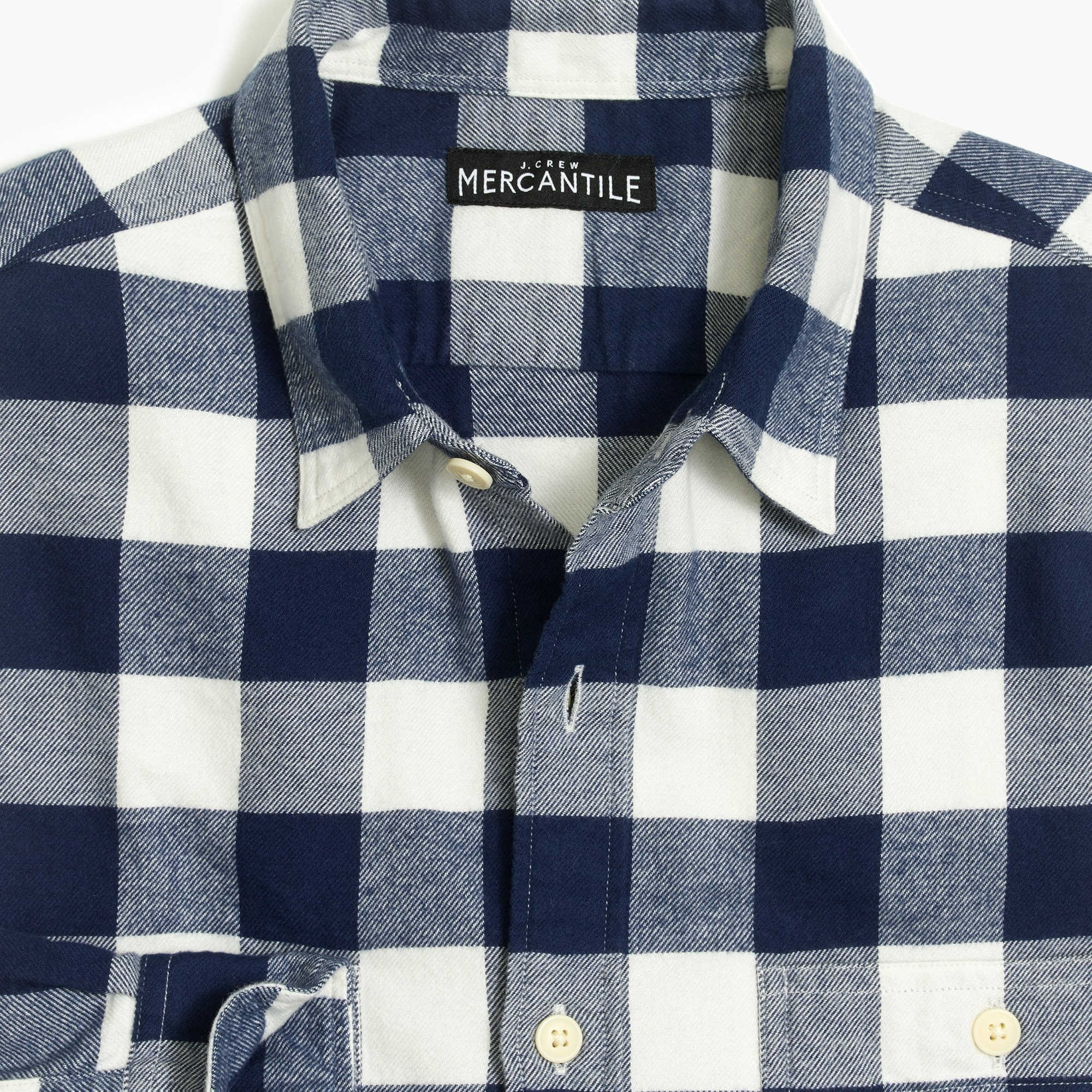 Image 1 for Slim-fit flannel shirt in buffalo check