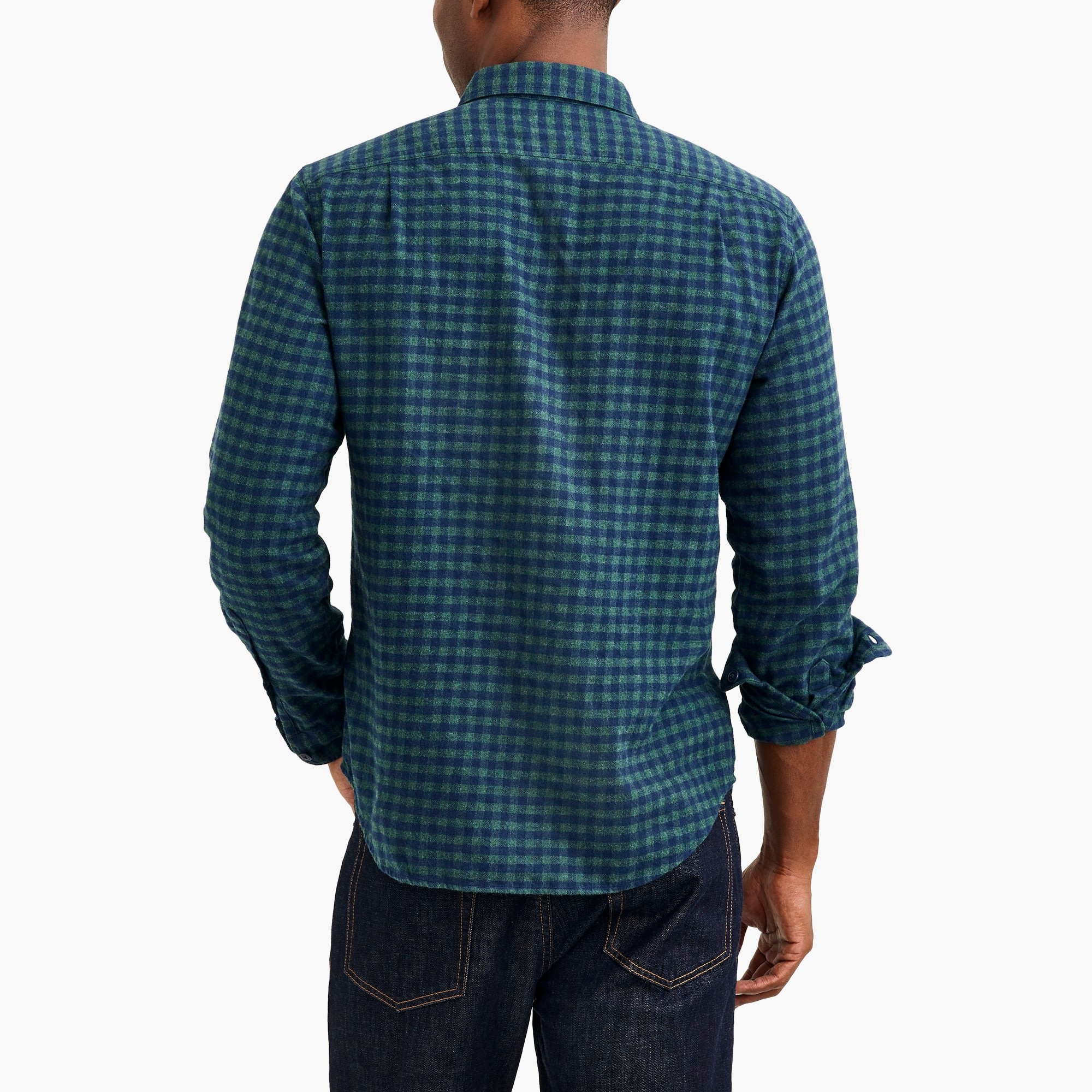 Image 2 for Heather flannel shirt in small buffalo check