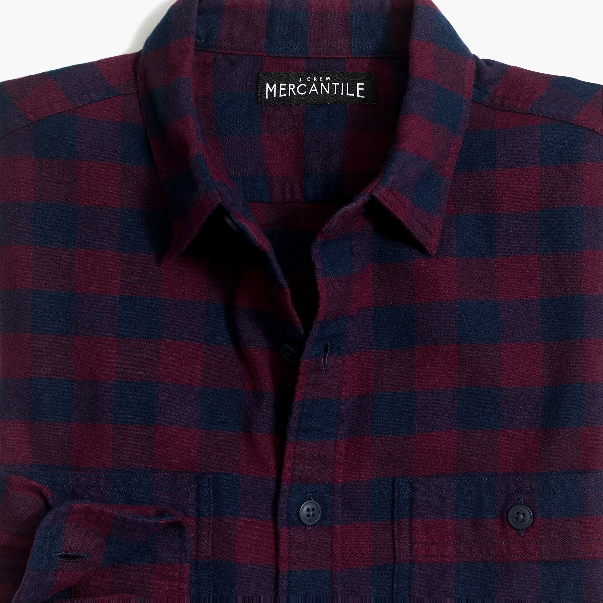 Image 2 for Slim-fit flannel shirt in buffalo check