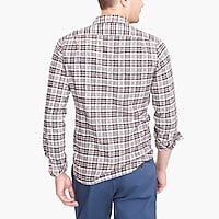 Image 3 for Tall slim-fit heather flannel shirt in plaid