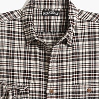Image 4 for Tall slim-fit heather flannel shirt in plaid
