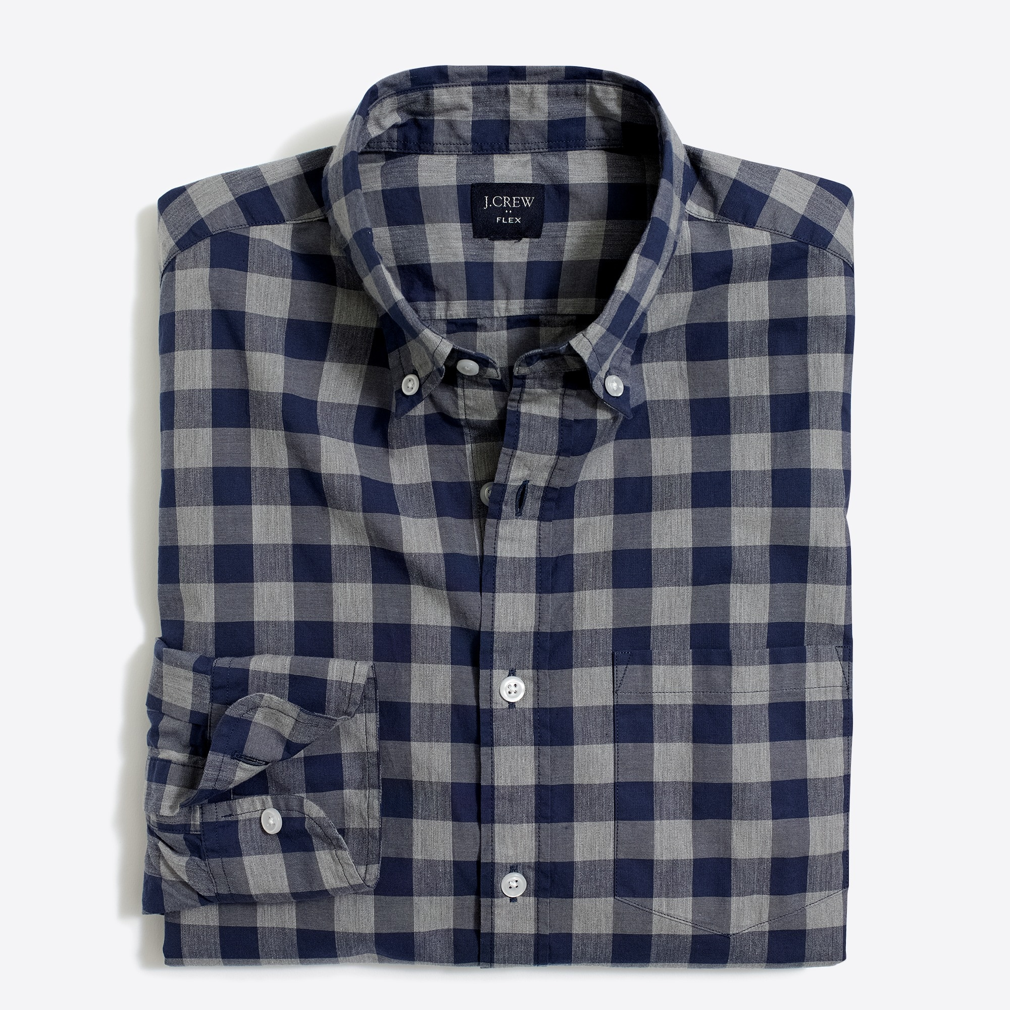 Classic flex heather washed shirt in gingham