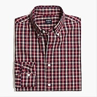 Image 2 for Tall slim-fit flex washed shirt in plaid