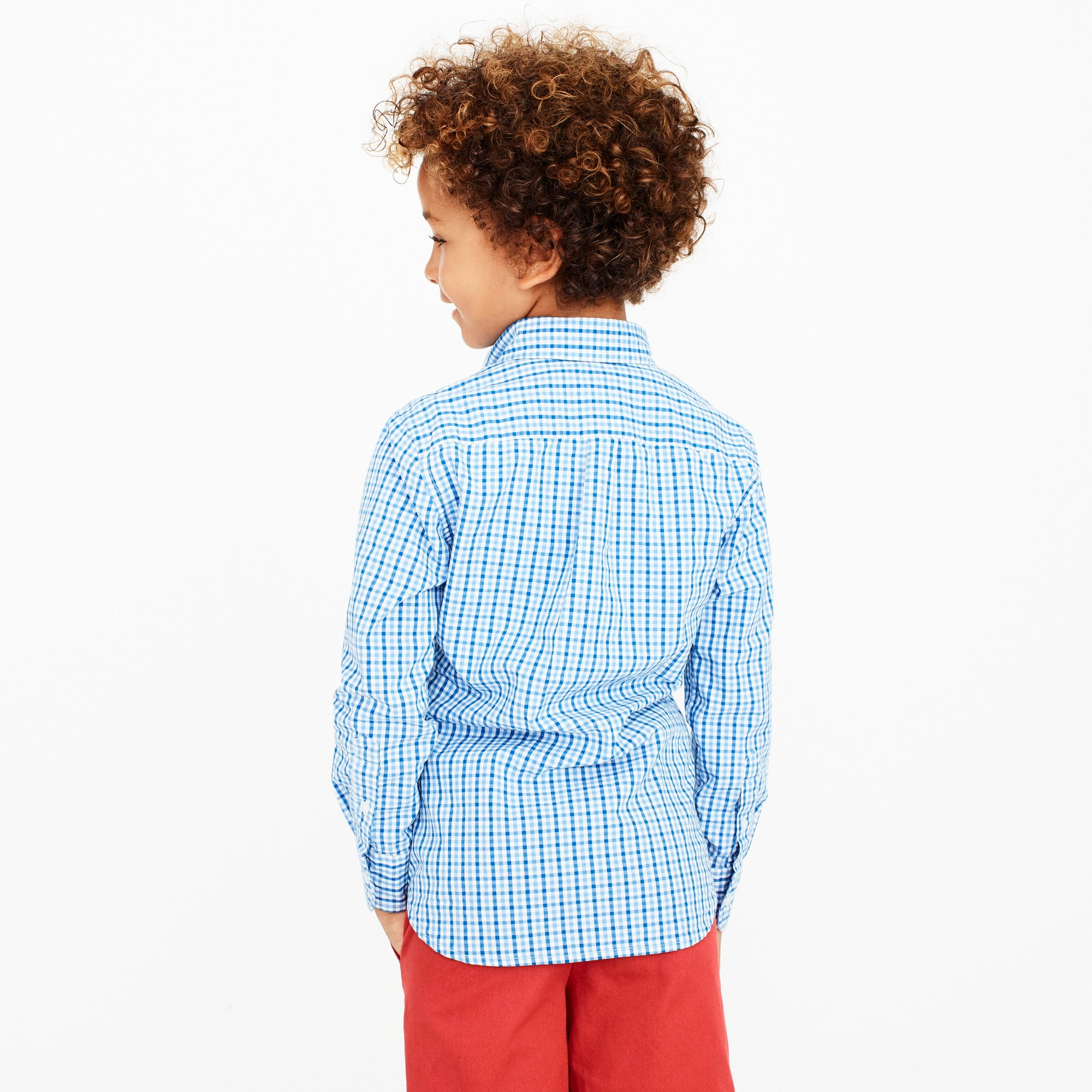 Image 3 for Boys' long-sleeve flex patterned washed shirt