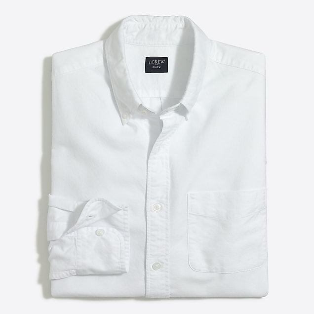 j.crew factory: slim flex oxford shirt