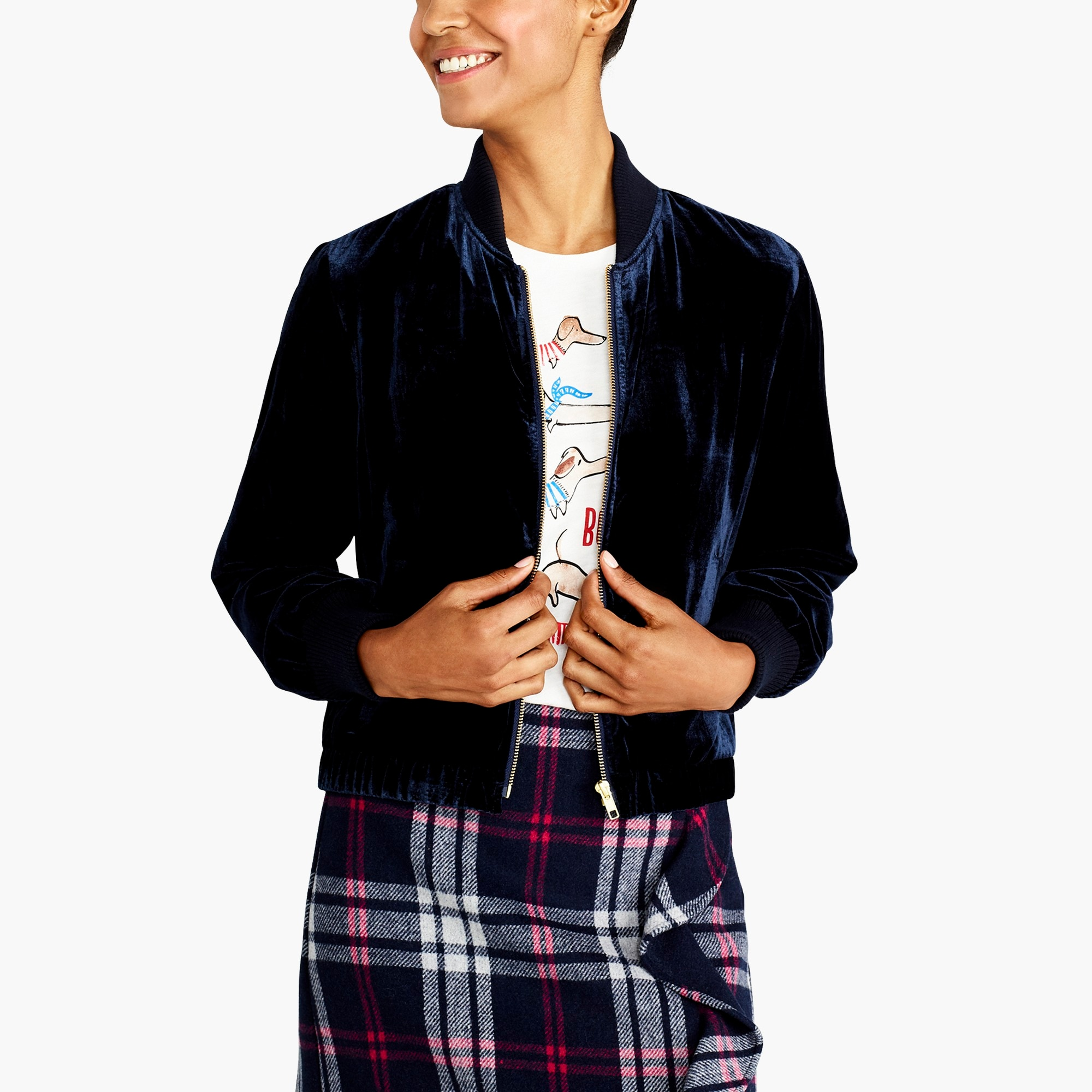 Velvet Bomber Jacket by J.Crew
