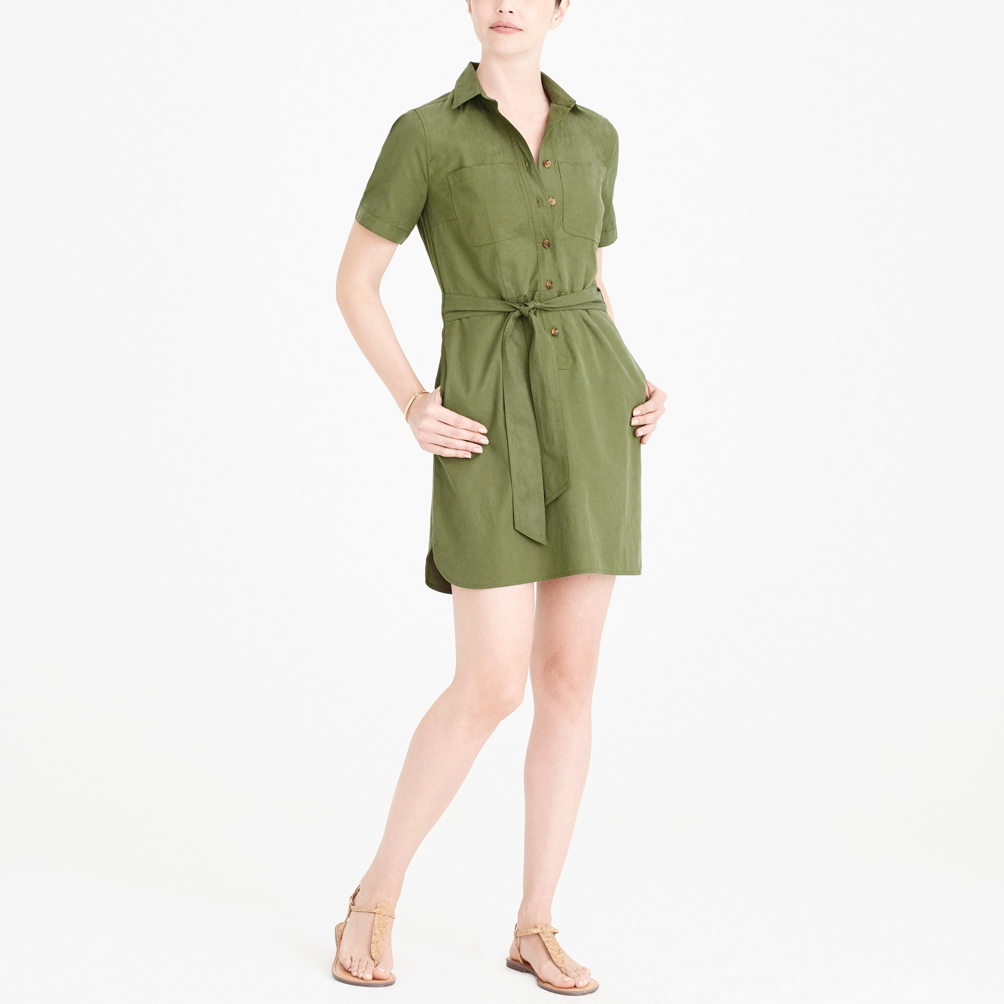 factory womens Utility shirtdress