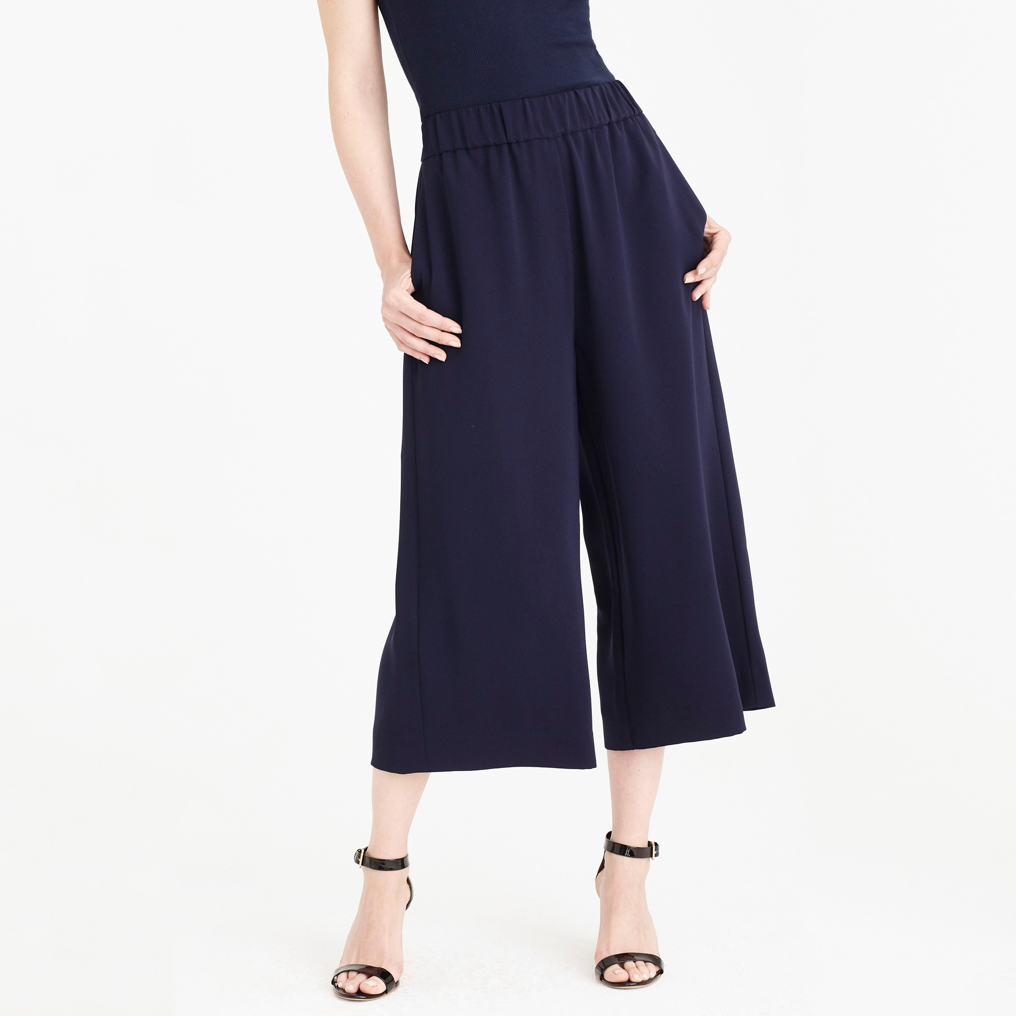 Image 1 for Drapey wide-leg crop pant