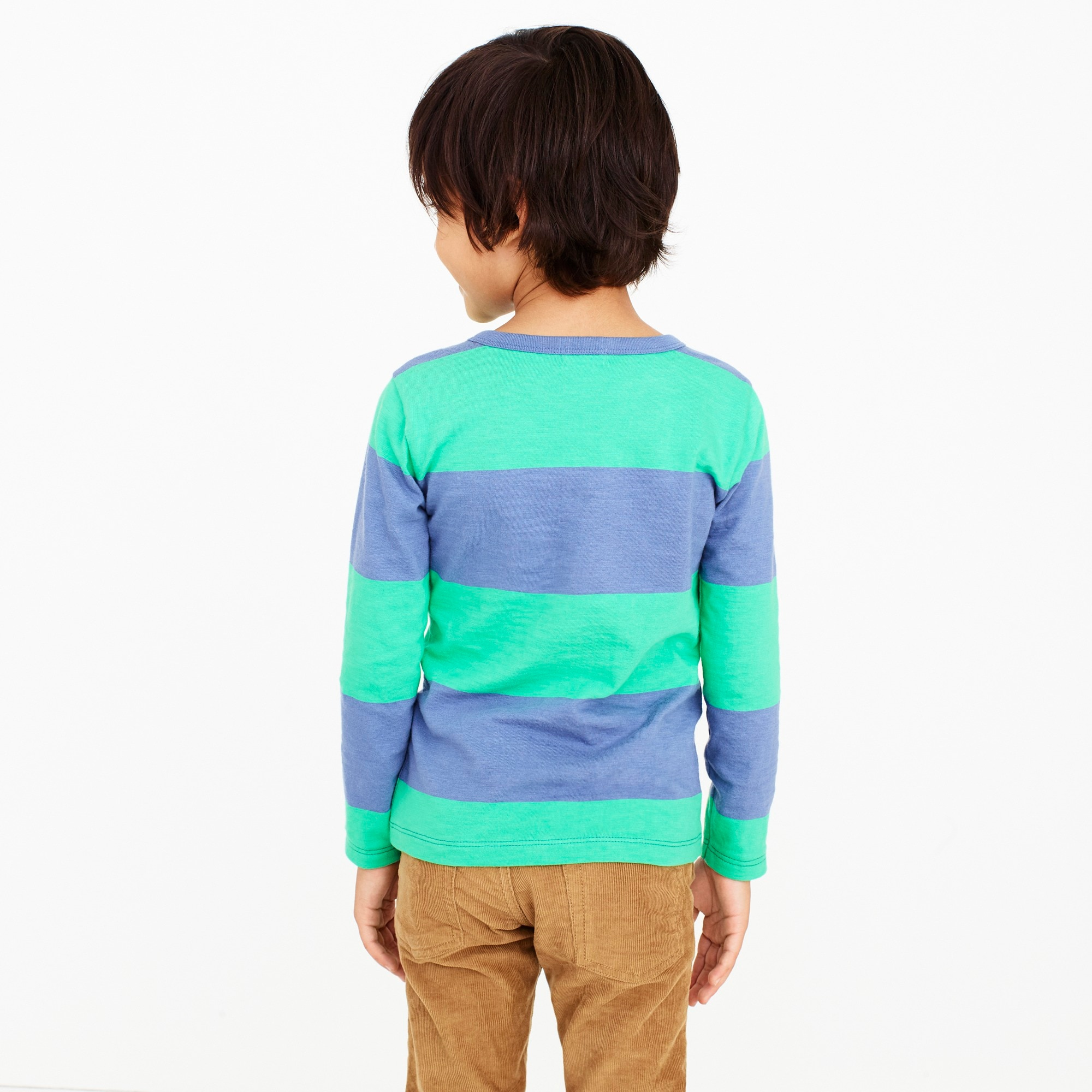 Boys' long-sleeve bright striped tee