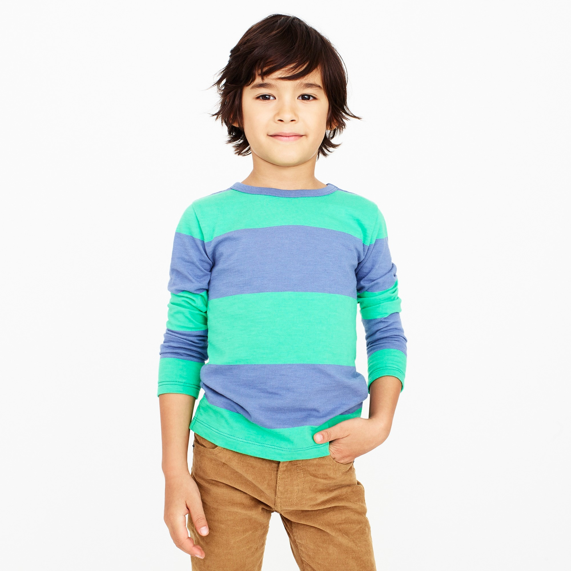 boys' long-sleeve bright striped tee : factoryboys stripes & novelty