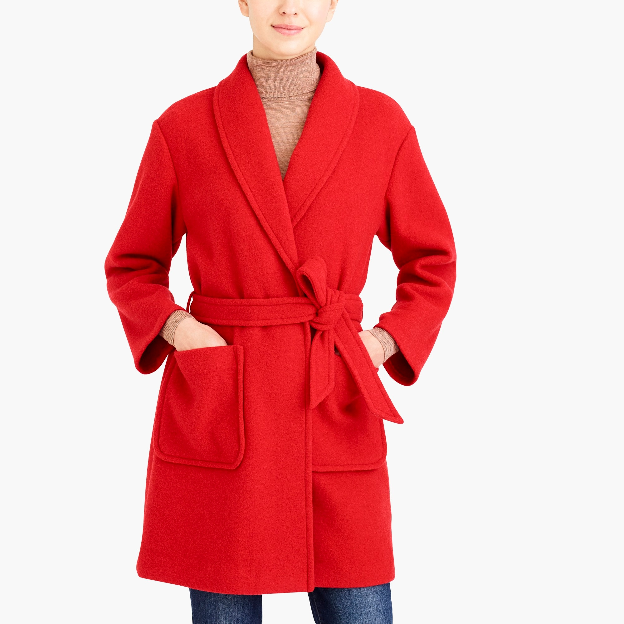 Belted Wrap Coat by J.Crew