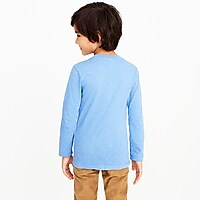 Image 3 for Boys' long-sleeve garment-dyed henley