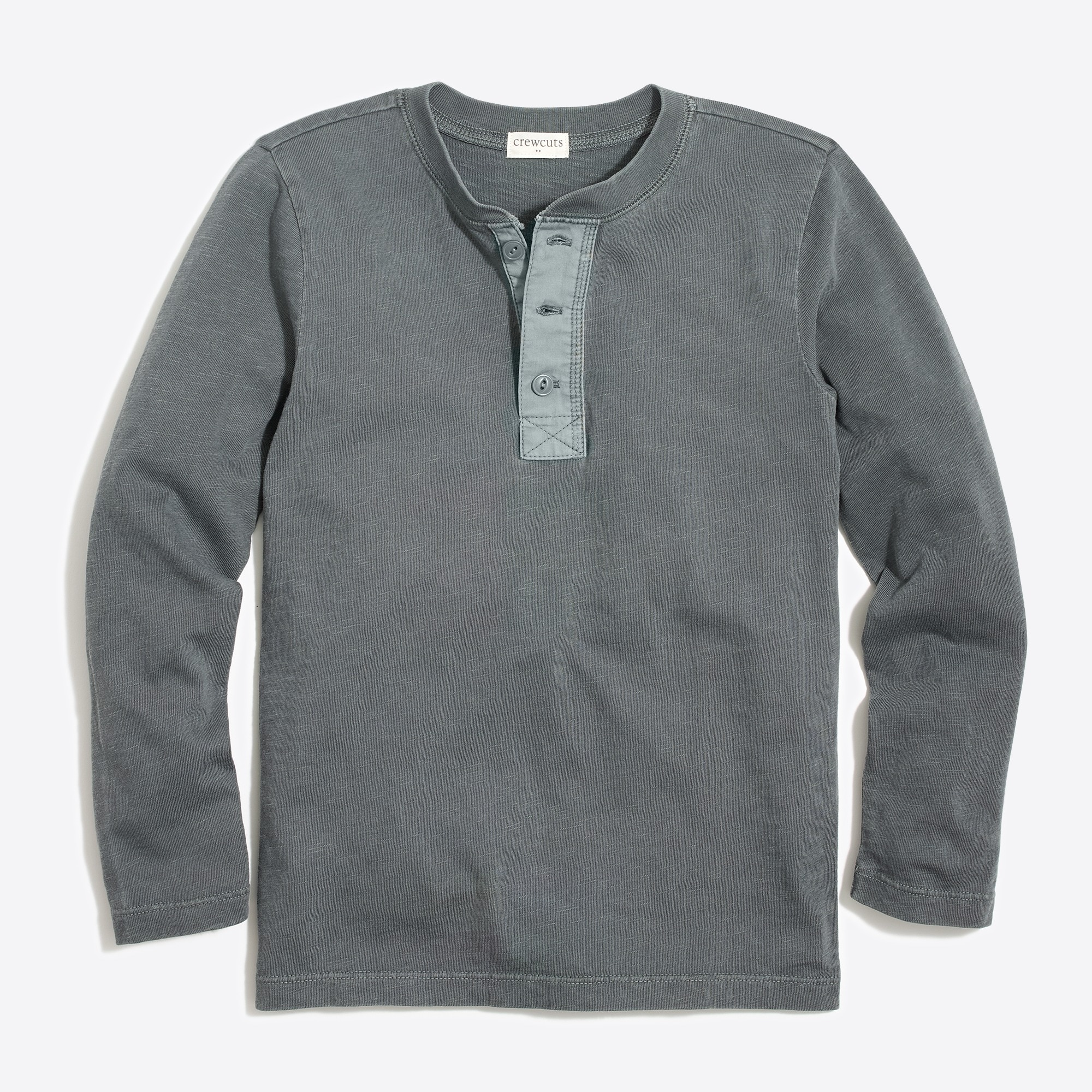 factory boys Boys' long-sleeve garment-dyed henley