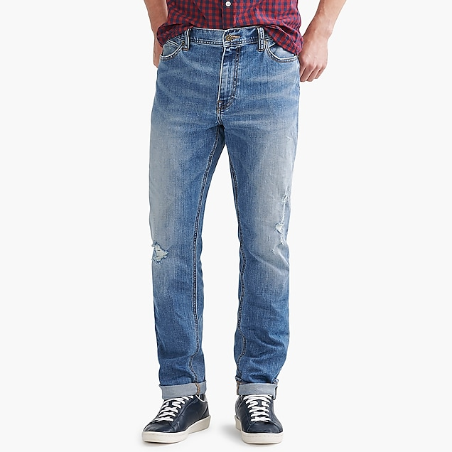 j.crew factory: straight-fit flex jean in luck wash