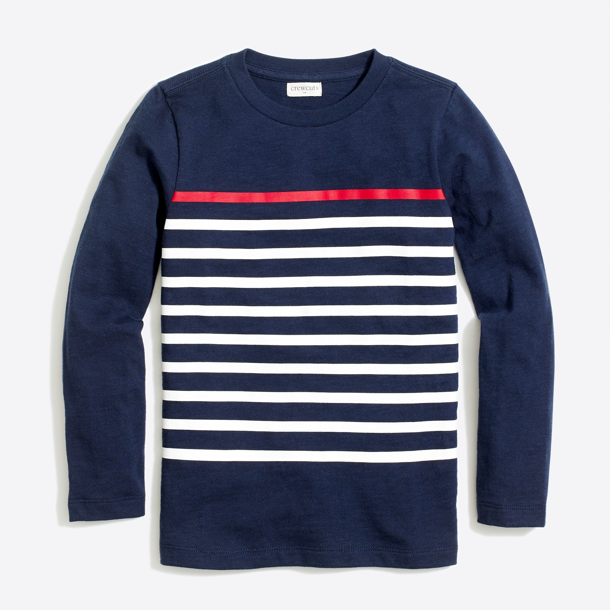 boys' long-sleeve placed stripe t-shirt : factoryboys stripes & novelty