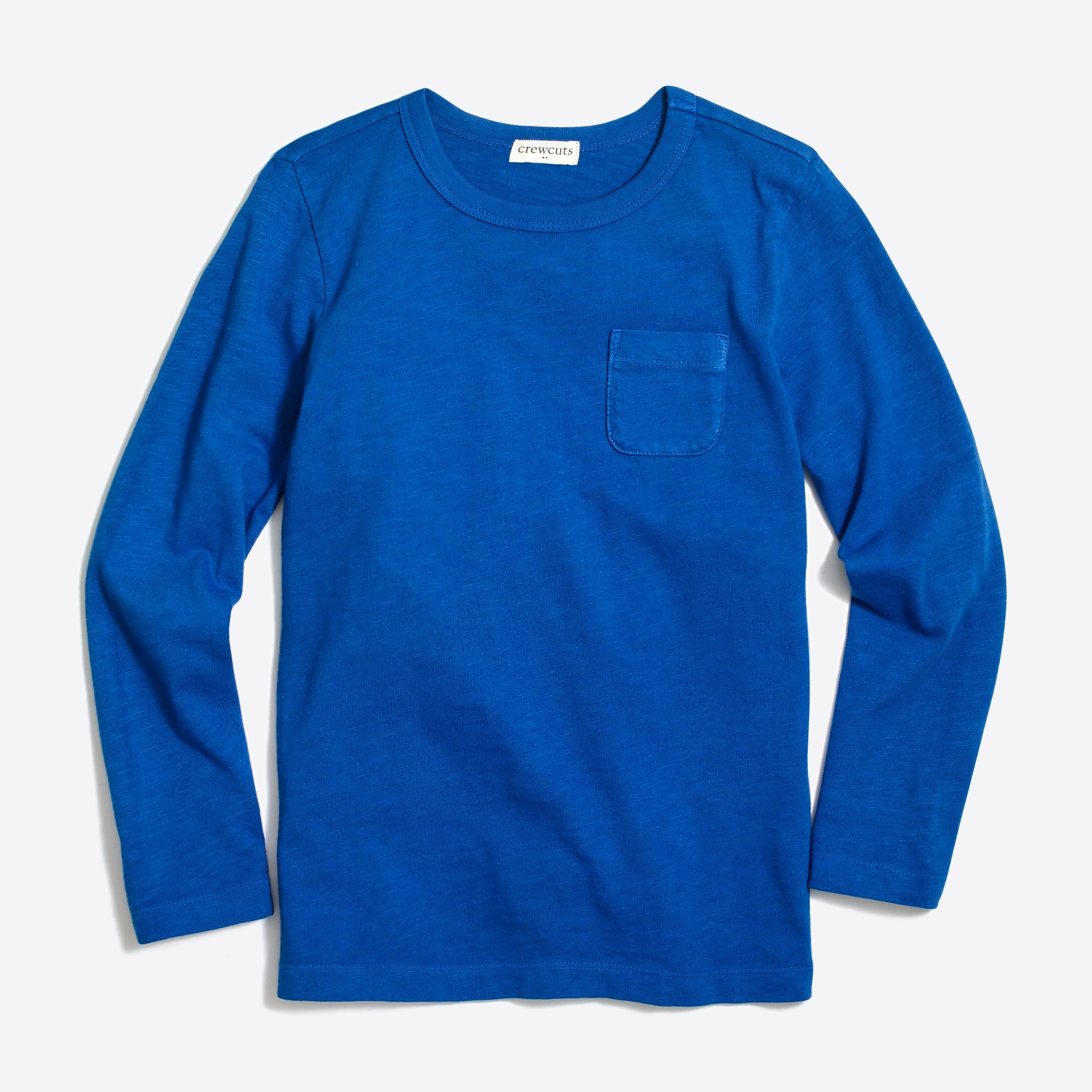 factory boys Boys' long-sleeve slub cotton garment-dyed pocket T-shirt