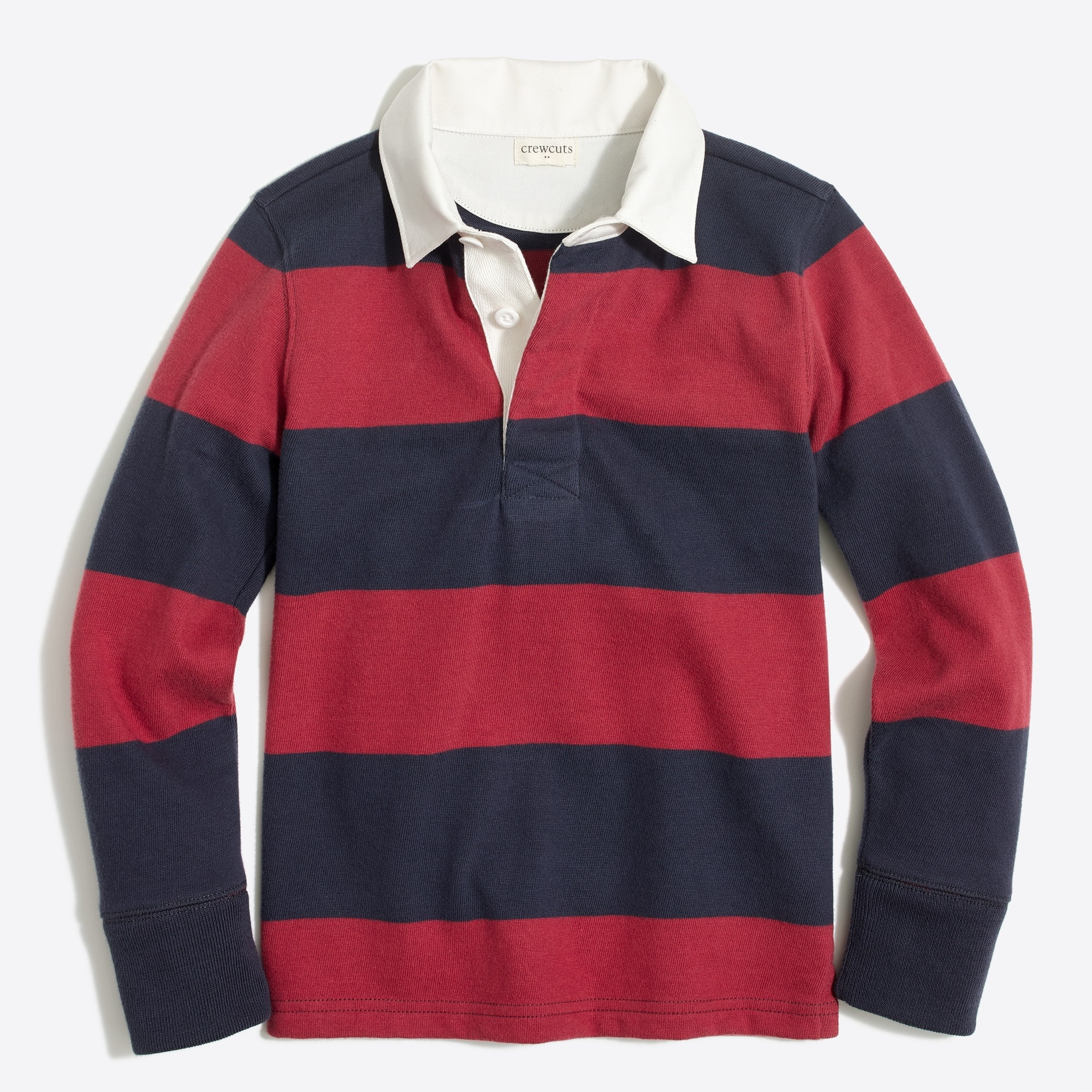factory boys Boys' long-sleeve rugby stripe polo