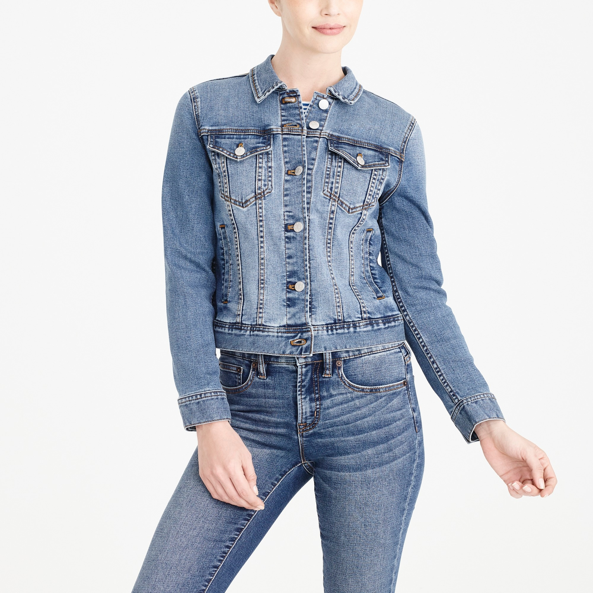 factory womens Classic denim jacket