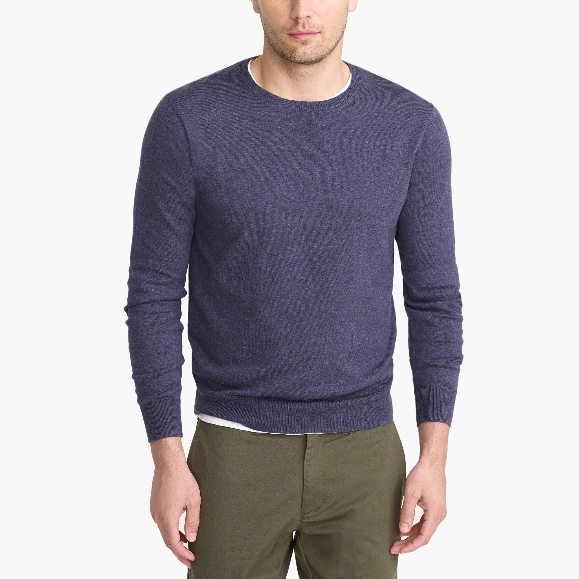 factory mens Cotton jersey crewneck sweater