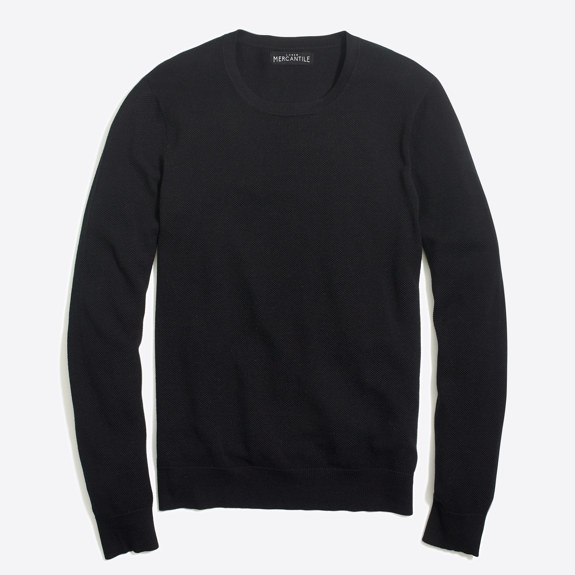 factory mens Cotton piqué crewneck sweater